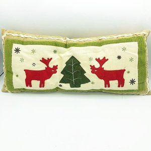 Nordic Christmas Reindeer Rectangular Pillow